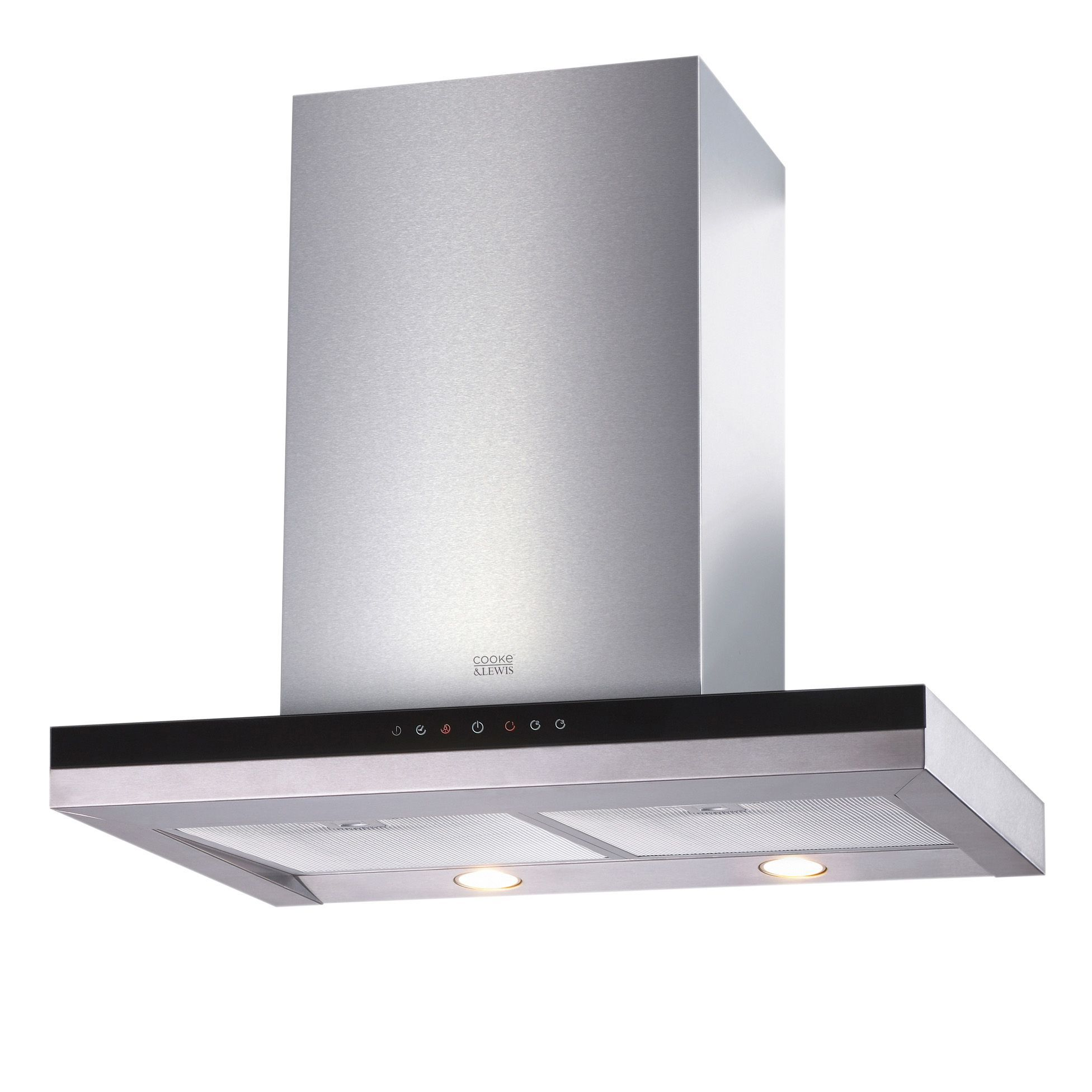 cooke lewis clbhgh 90 stainless steel box cooker hood w 900mm departments diy at b q. Black Bedroom Furniture Sets. Home Design Ideas