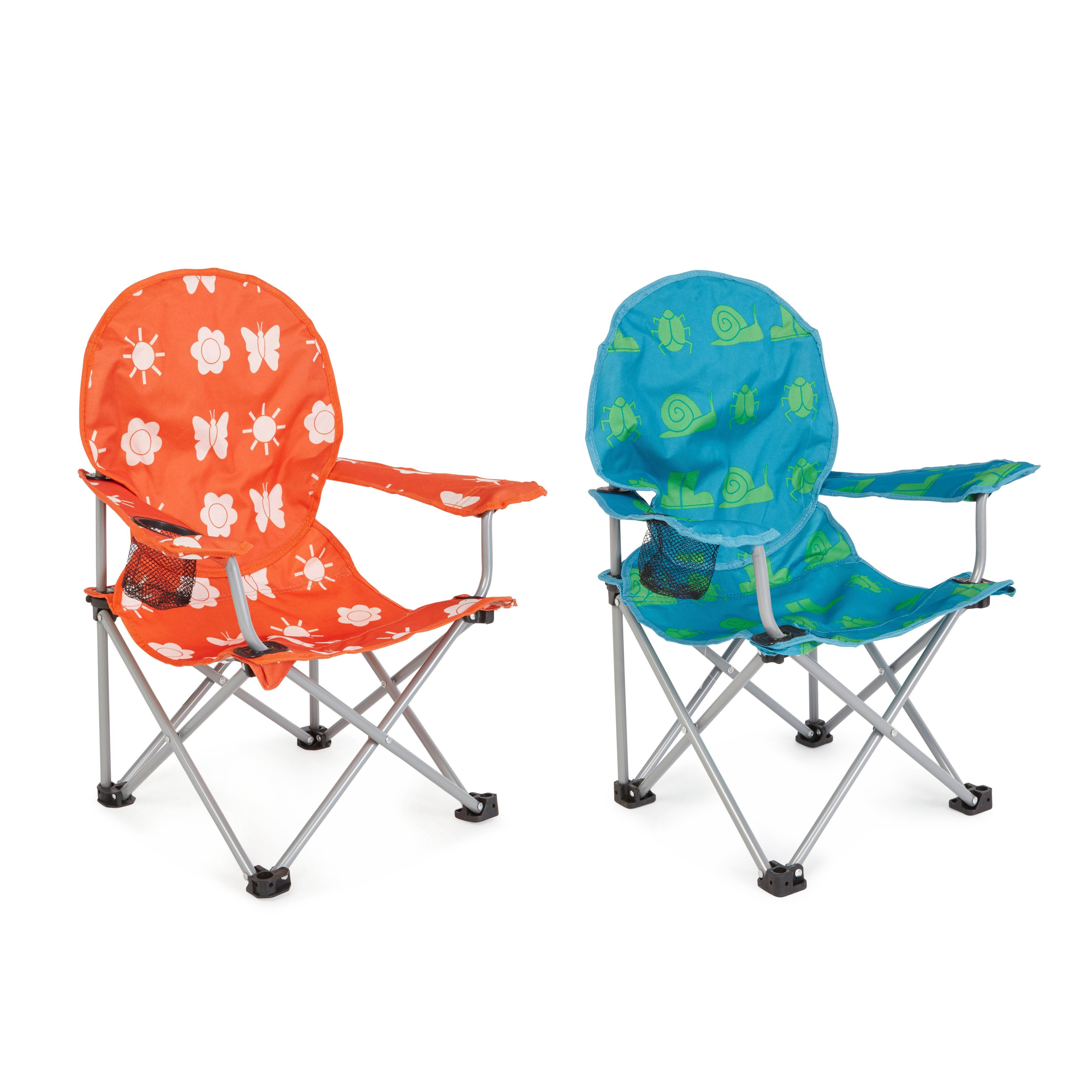 Molloy Patterned Metal Kids Camping Chair Departments