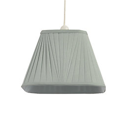 Colours Conwey Duck Egg Pleated Light Shade (D)250mm