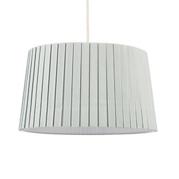 Colours Aubree Duck Egg Box Pleat Light Shade