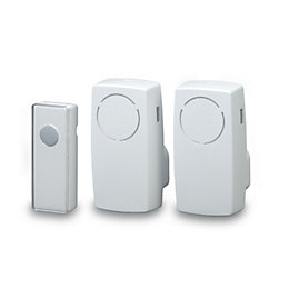 Blyss Wirefree White Plug-In Door Bell Kit