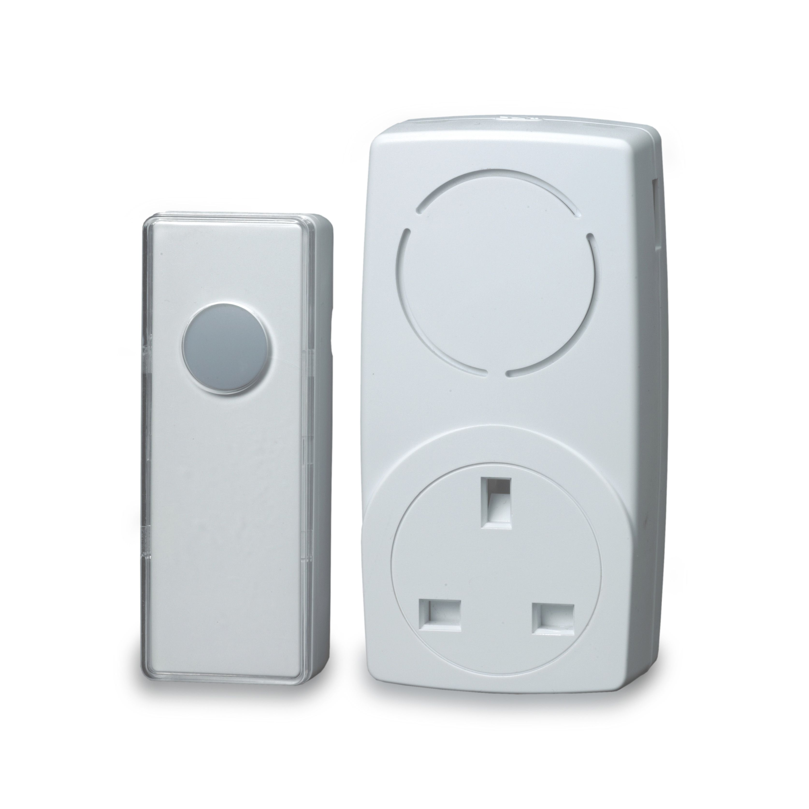 sc 1 st  B\u0026Q & Blyss Wirefree White Plug-In Door Bell Kit | Departments | DIY at B\u0026Q