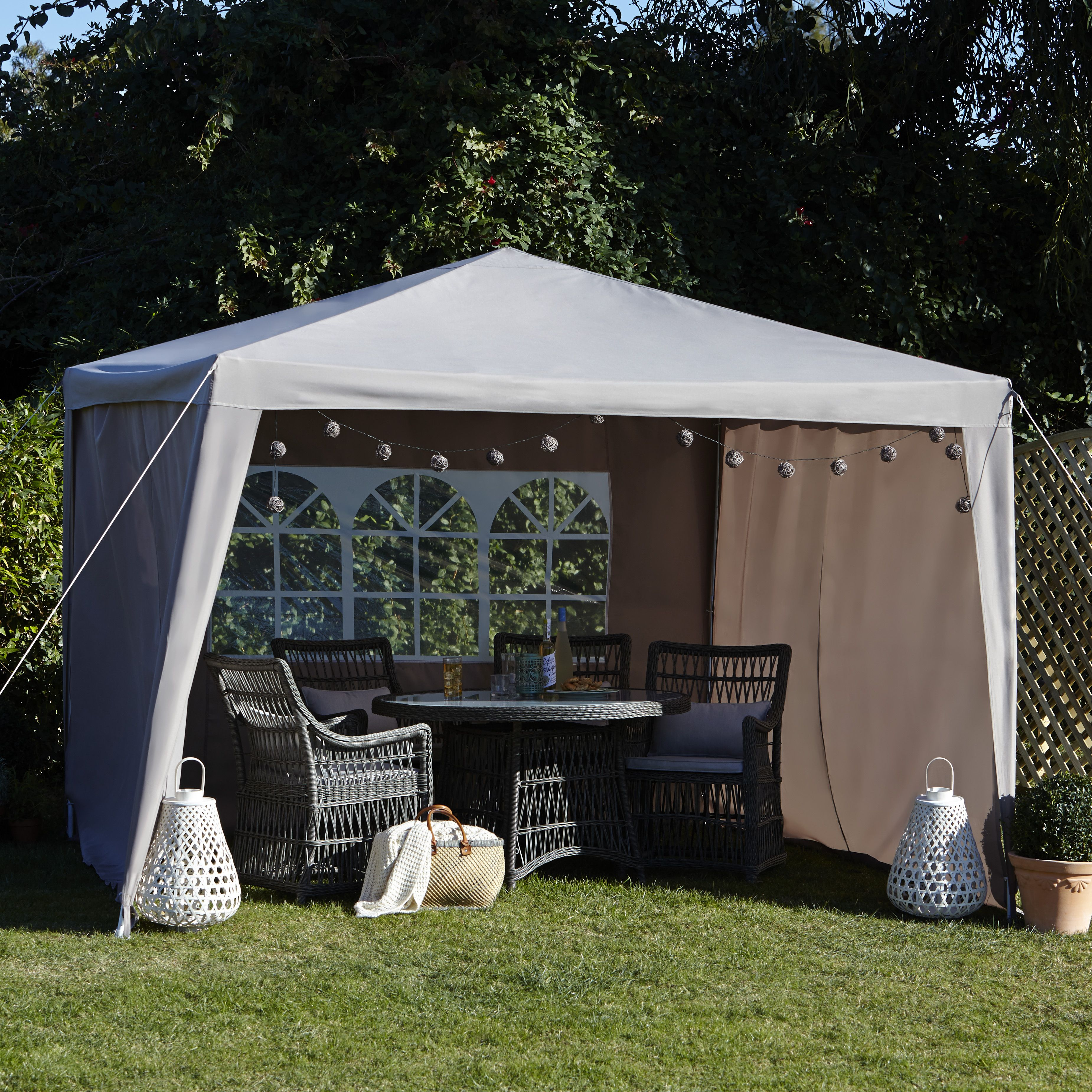 Blooma Jarvis Taupe Gazebo Panels Pack Of 3 Departments