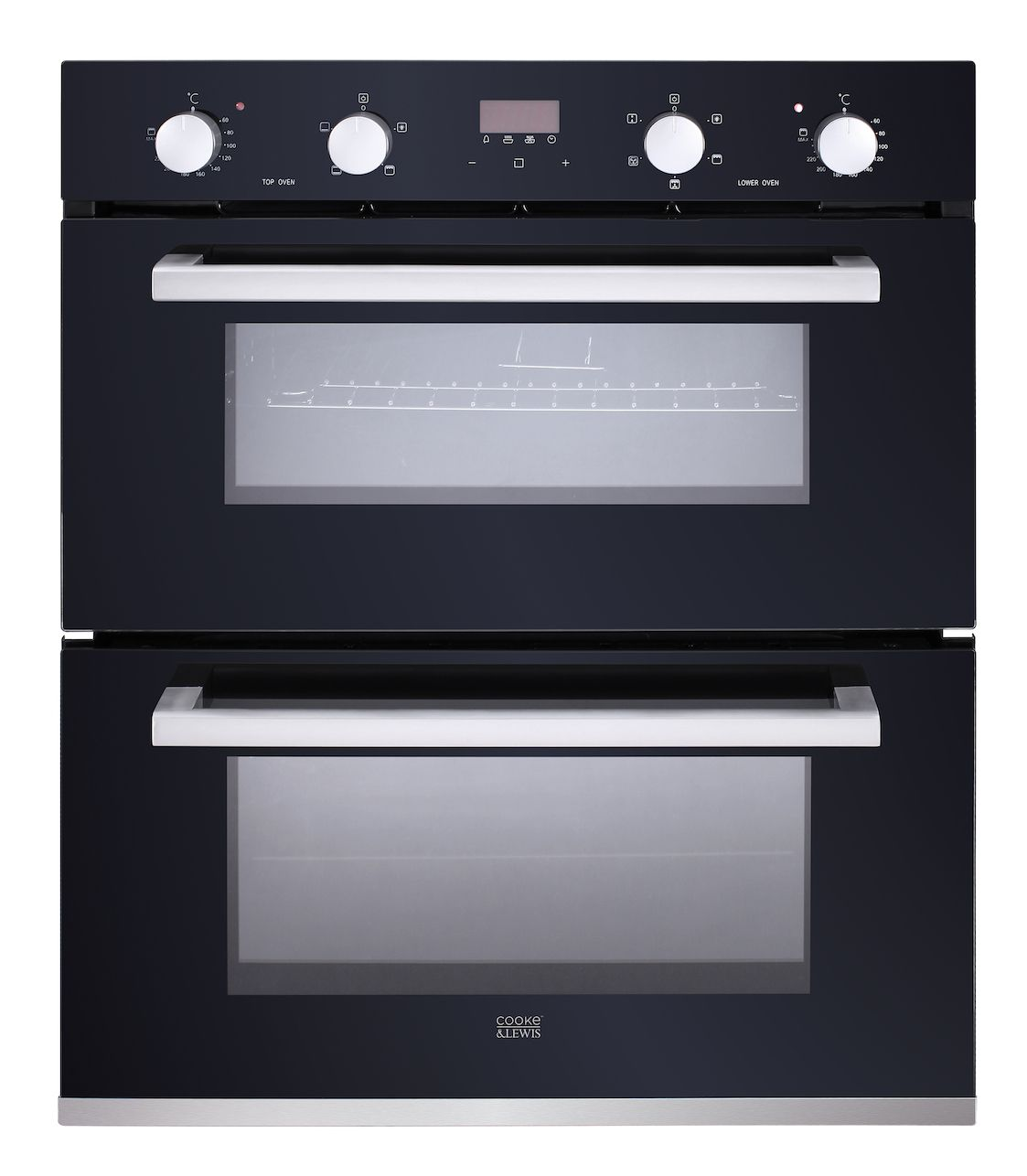 Cooke Lewis Cldmo 35 Black Integrated Electric Double Multifunction Oven Departments Tradepoint