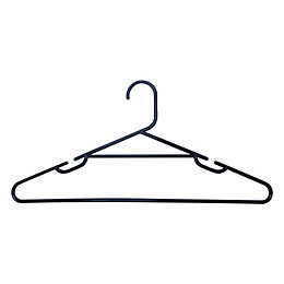 B&Q Plastic Clothes Hangers, Pack of 10