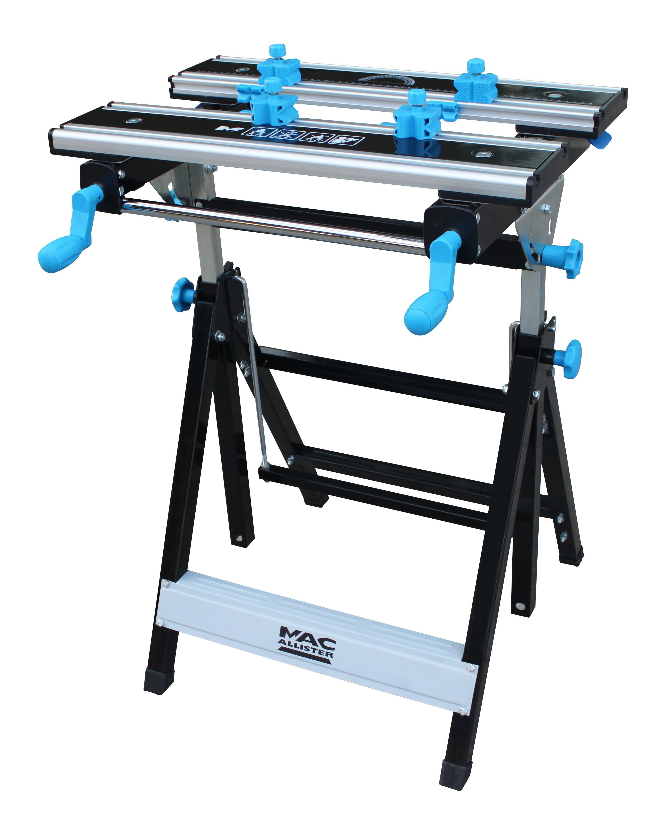 Mac Allister Foldable Vice Jaw Clamp Workbench, (W)550mm