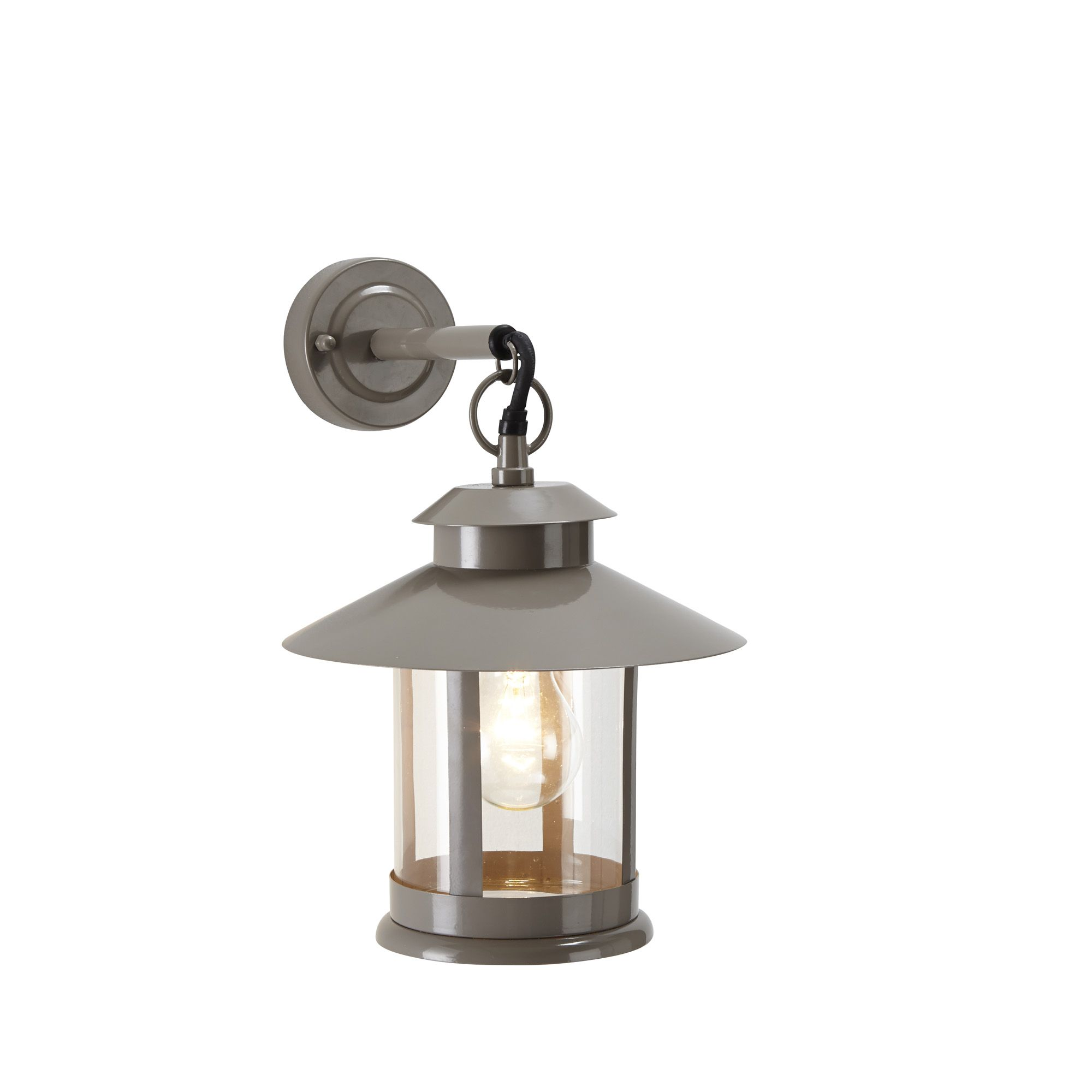 Outdoor Lamp Post B Q: Blooma Calava Grey Mains Powered External Wall Light