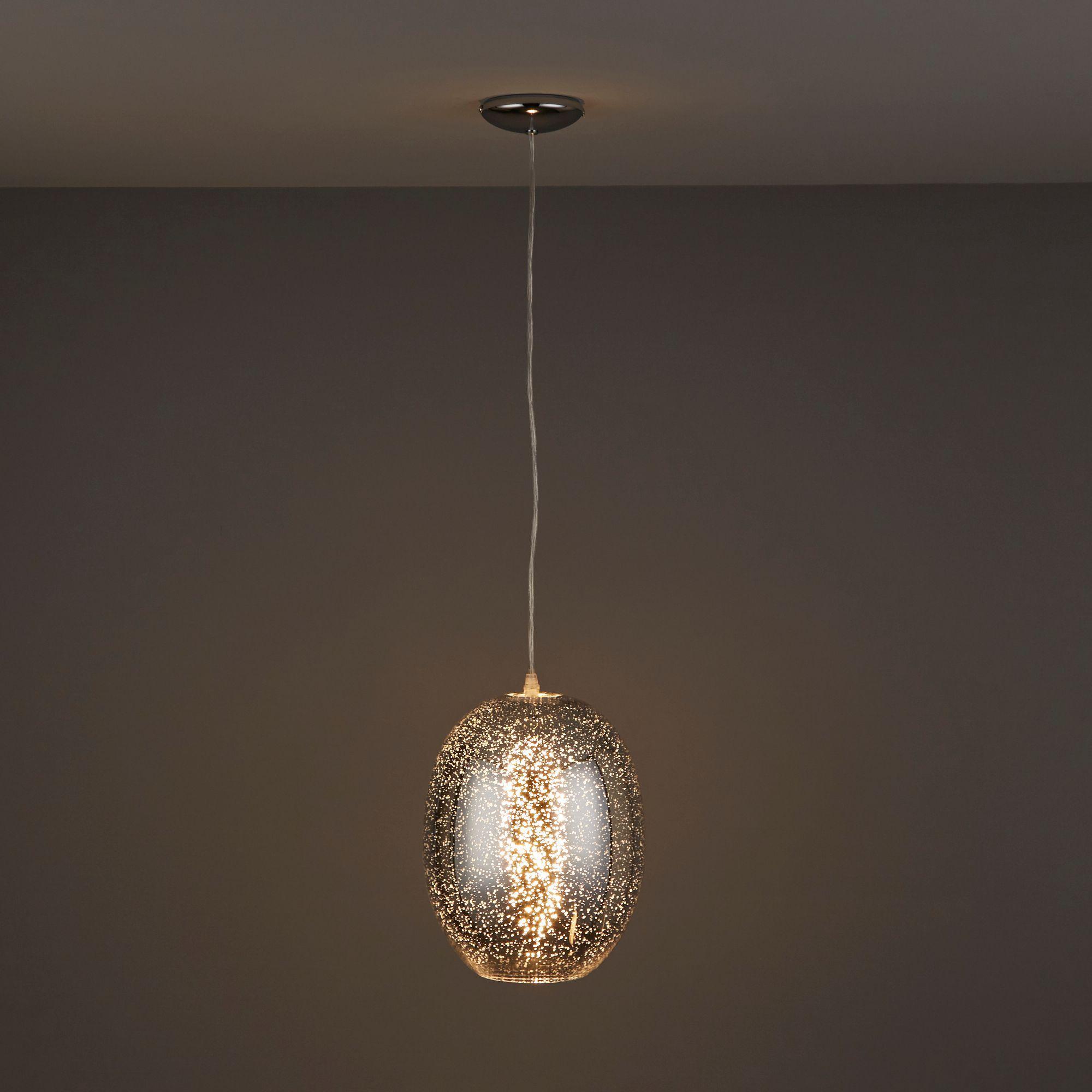 Chandelier Lighting B Q: Guerrein Chrome Effect Pendant Ceiling Light