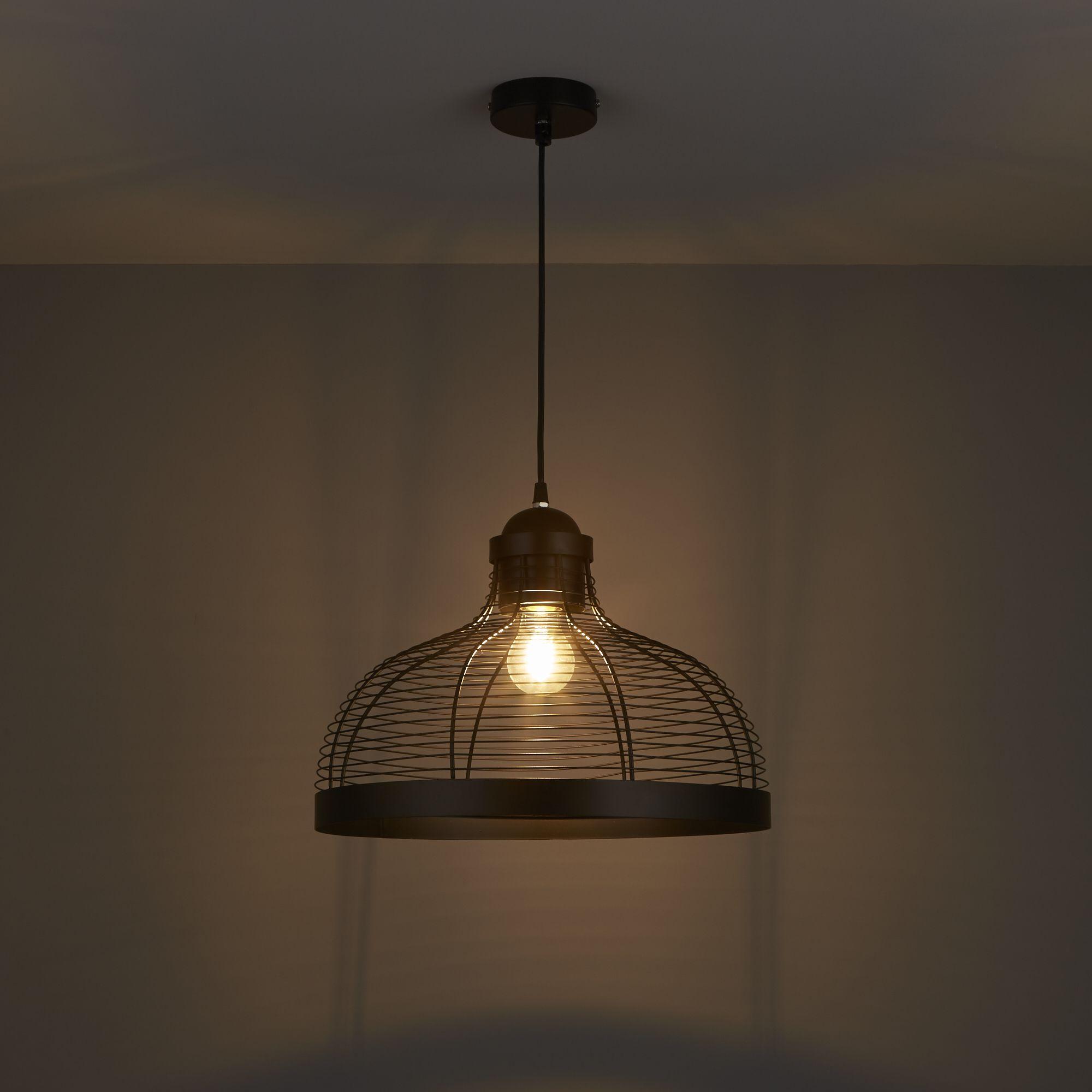 Baici Matt Black Pendant Ceiling Light Departments Diy At B Q