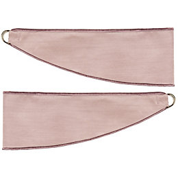 Colours Arcadia Lilac Plain Curtain Tie Backs, Pack