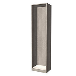Darwin Modular Grey Oak Effect Tall Wardrobe Cabinet