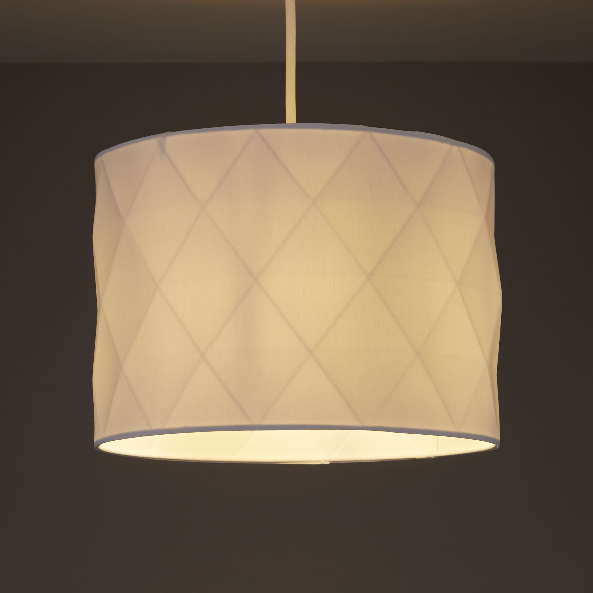 Colours Chrysta White Multifaceted Light Shade (D)250mm