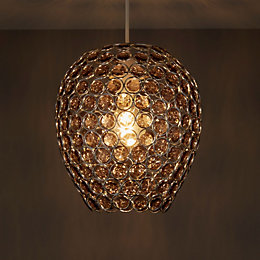 Colours Bartt Smokey Grey Beaded Light Shade (D)230mm