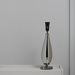 Chalma Teardrop Black Chrome Effect Table Lamp Base