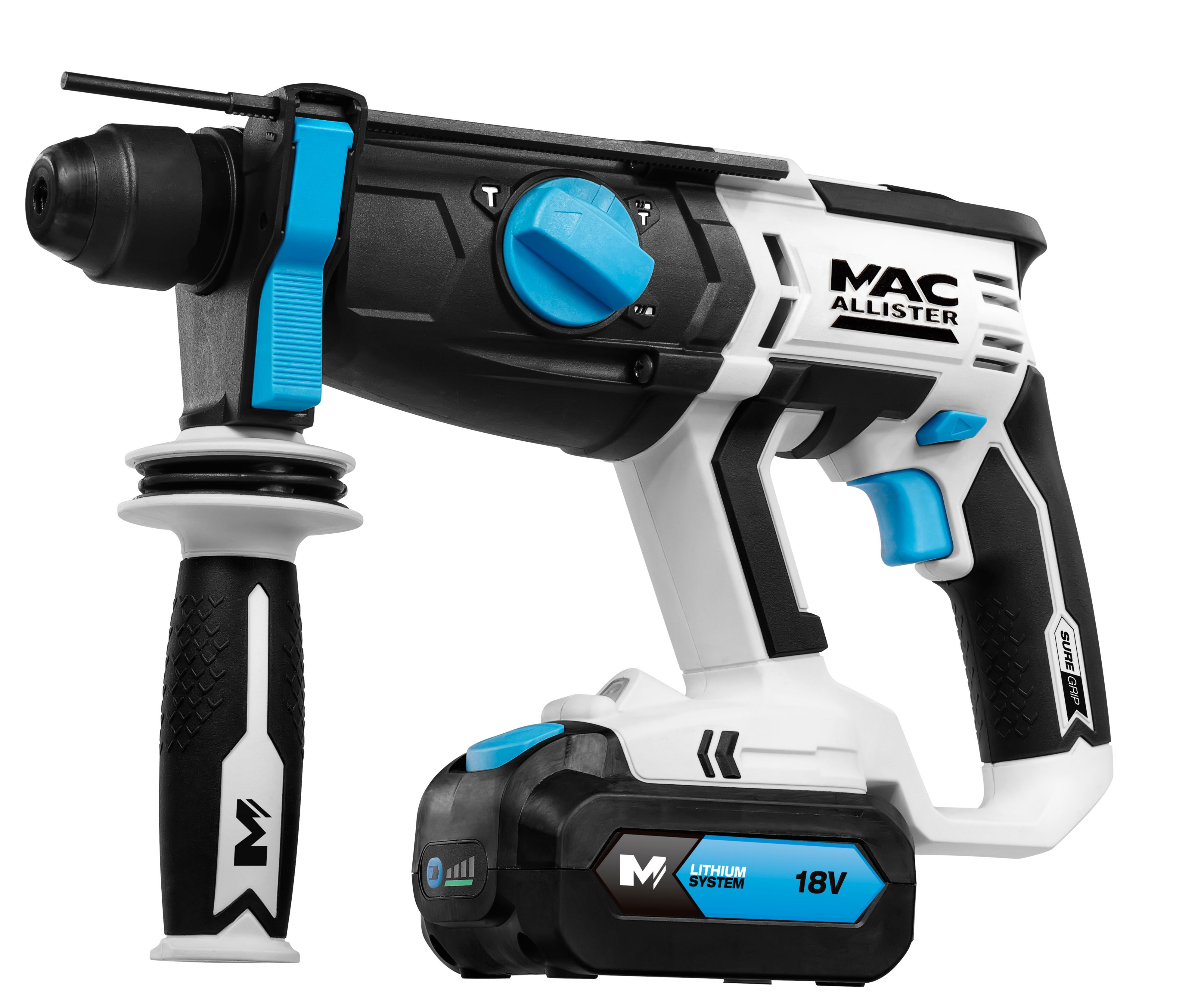 Mac Allister Cordless 18v 3ah Li Ion Sds Plus Drill 2