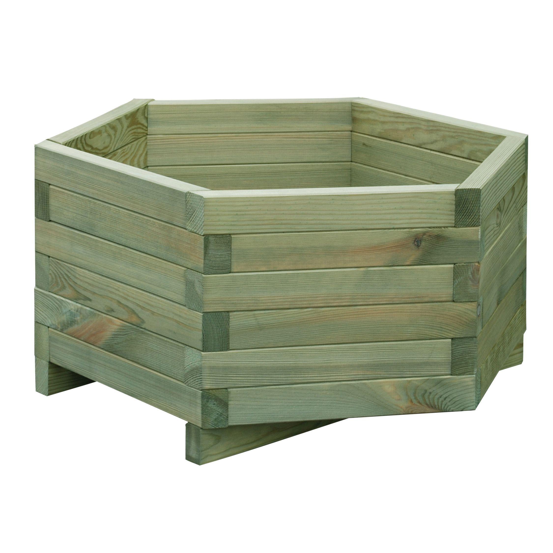 Hexagonal Wooden Planter (H)300mm (L)600mm | Departments | DIY at B&Q.