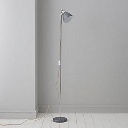 Estiva Grey Floor Lamp
