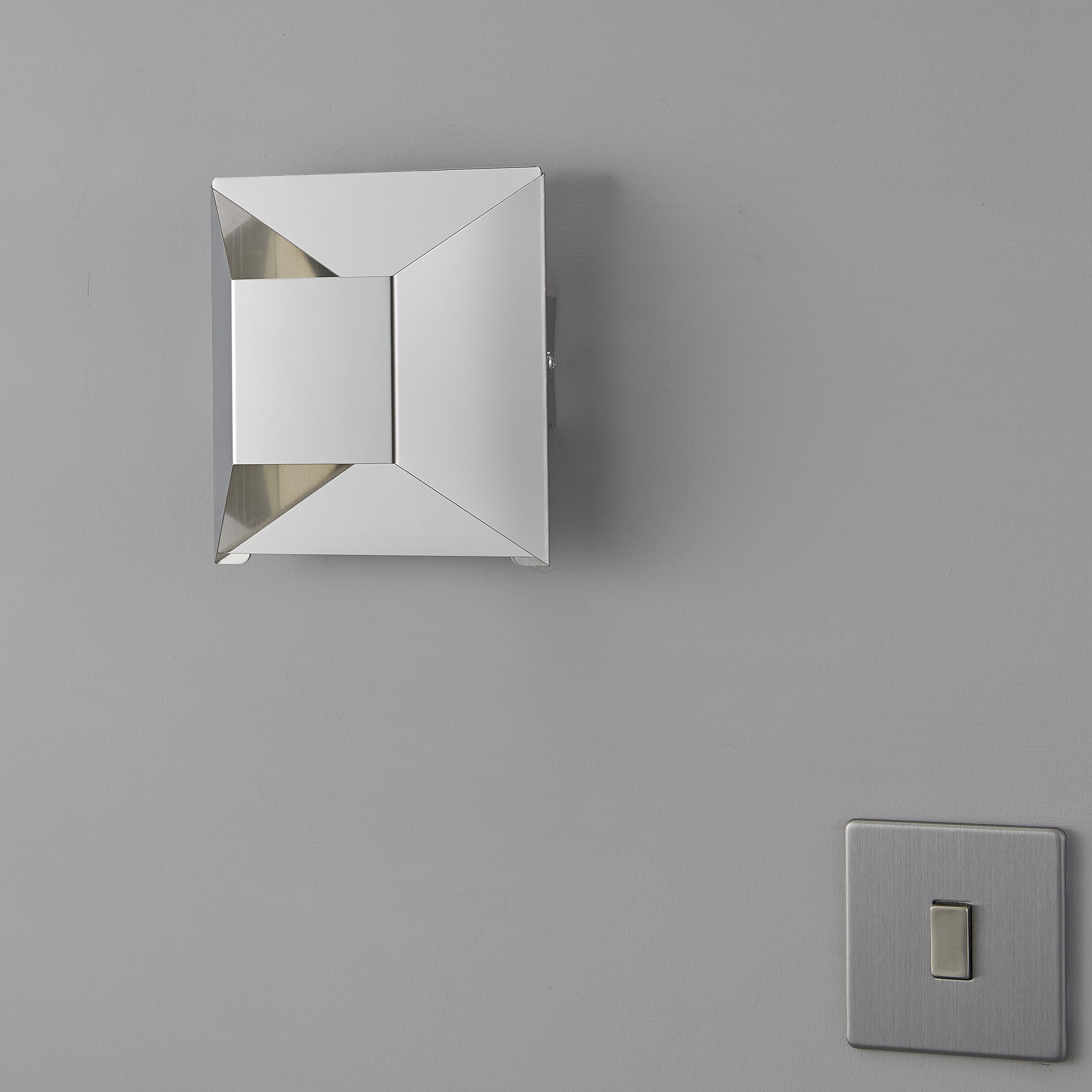 Alioth Chrome Effect Wall Light Departments Diy At B Q