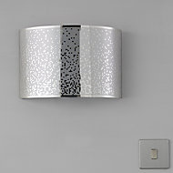 Klerk Chrome effect Single wall light