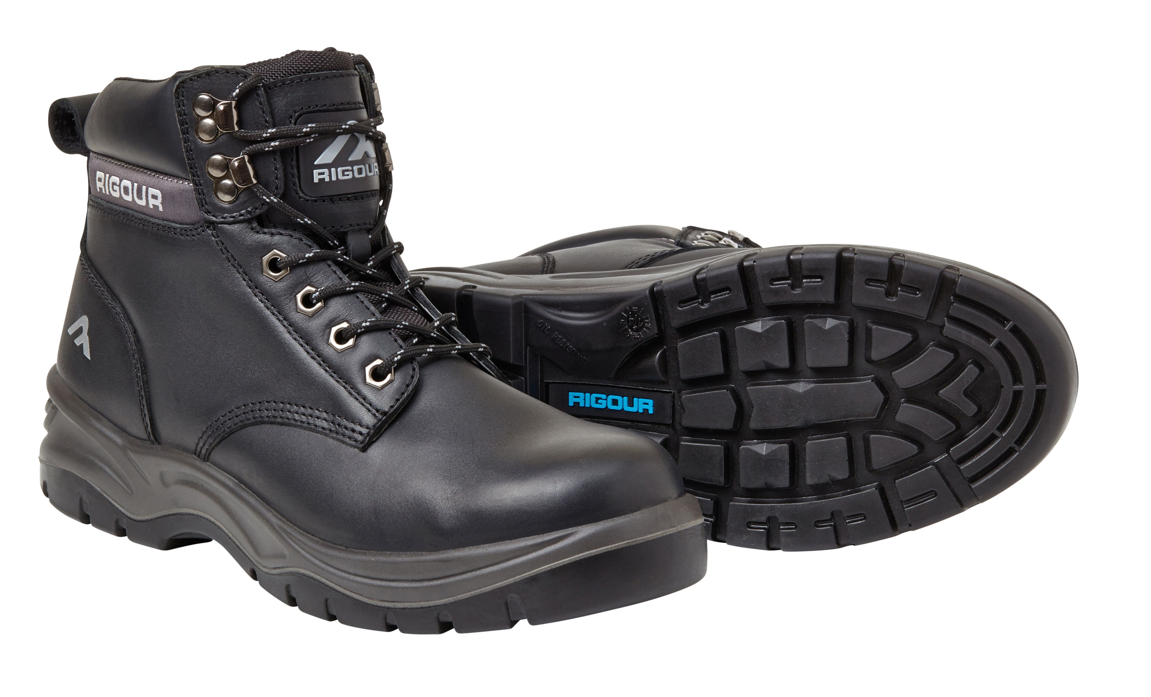 hot products later new concept Rigour Black Safety work boots, size 11 | Departments | DIY at B&Q
