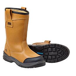 Rigour Tan Rigger Boots, Size 9