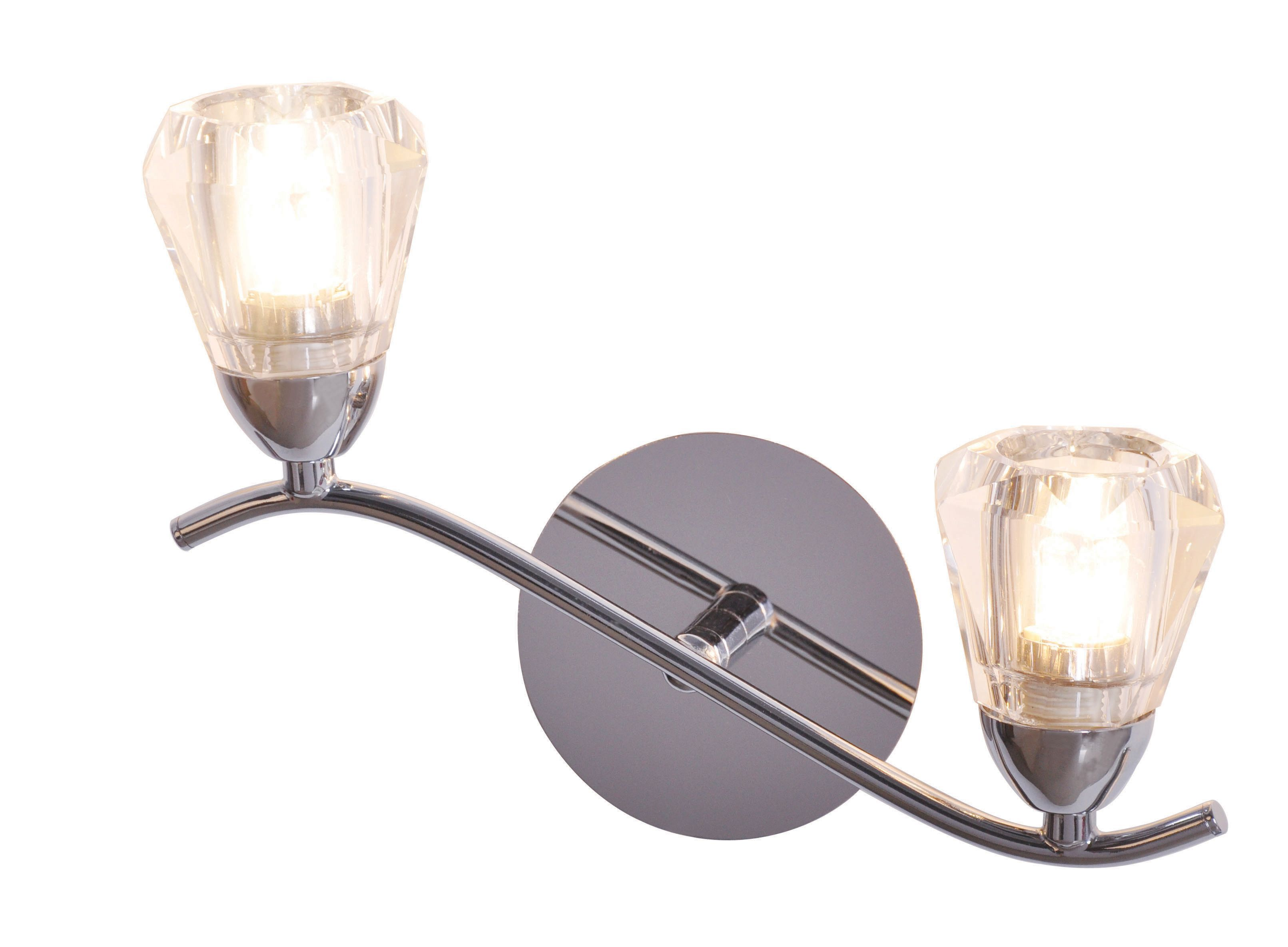 Kinsell nickel effect double wall light departments diy at bq aloadofball Image collections