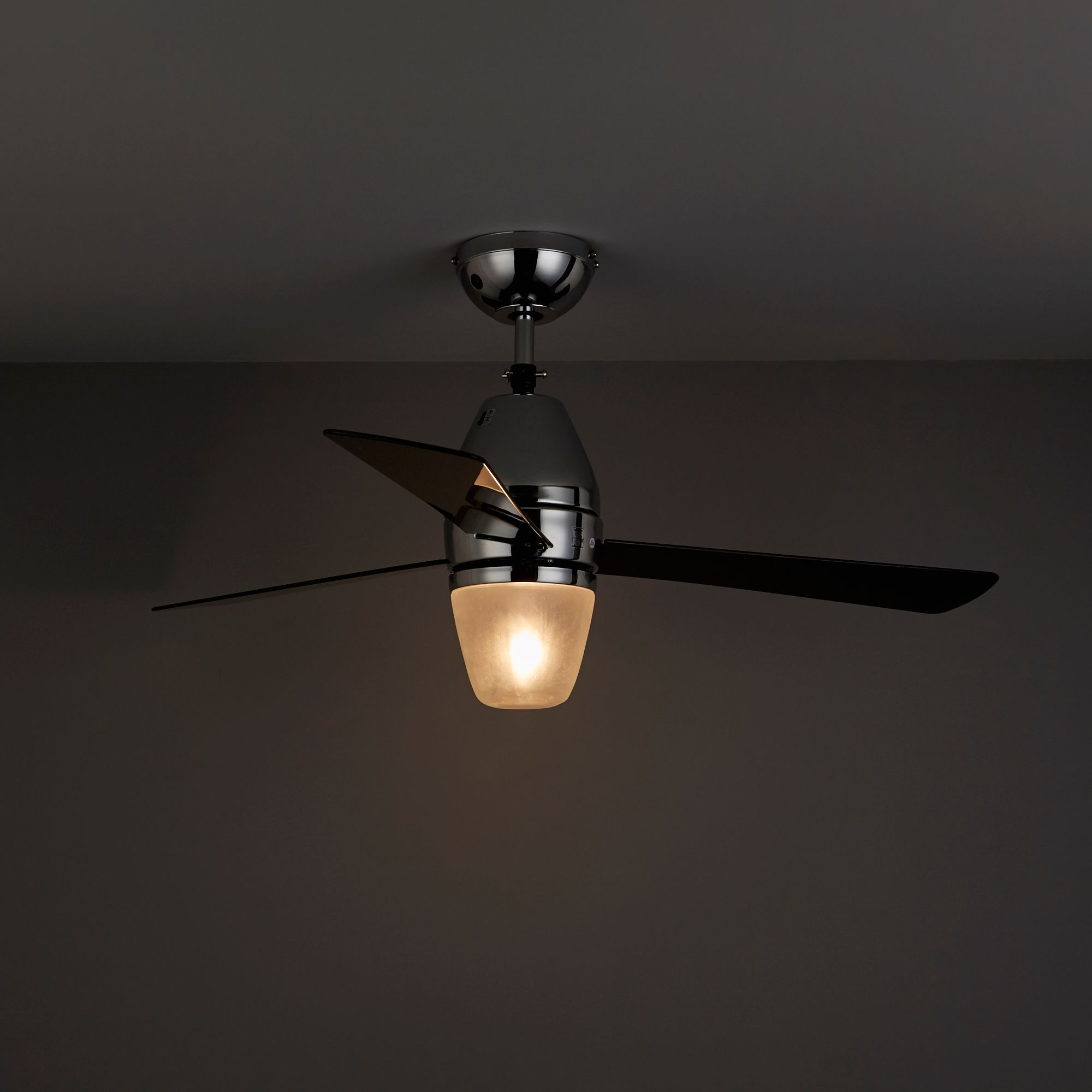 Whoosh Chrome Effect Ceiling Fan Light Departments Diy At B Q