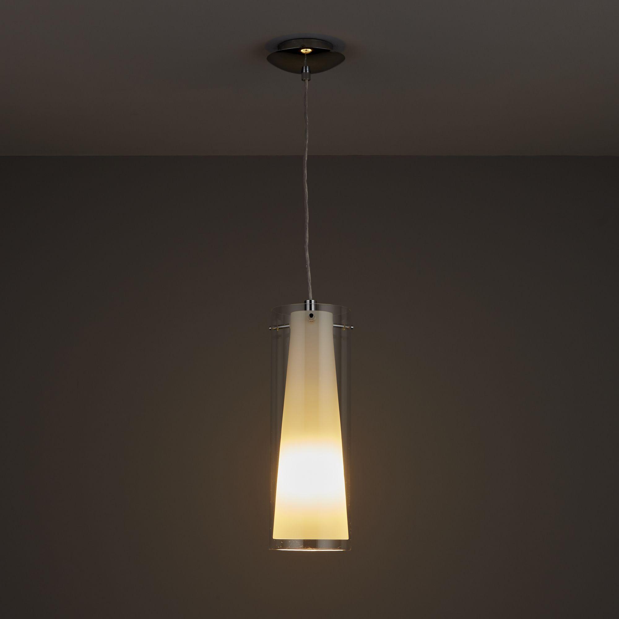kamara tube white pendant ceiling light departments diy  bq