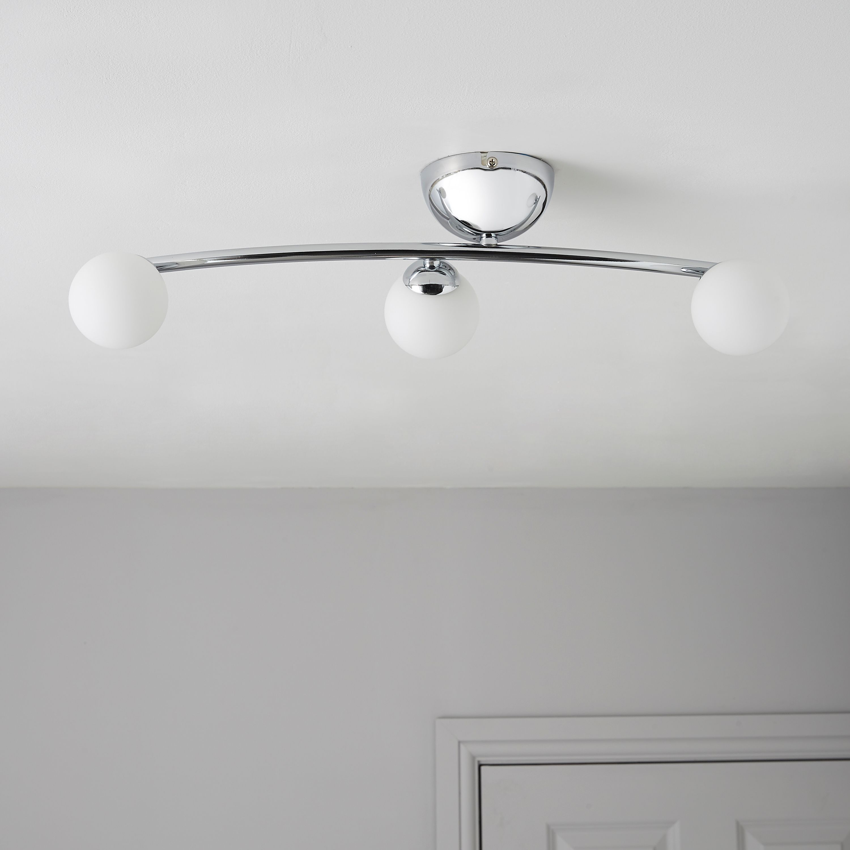 cygnus bubble chrome effect  lamp ceiling light departments diy  bq