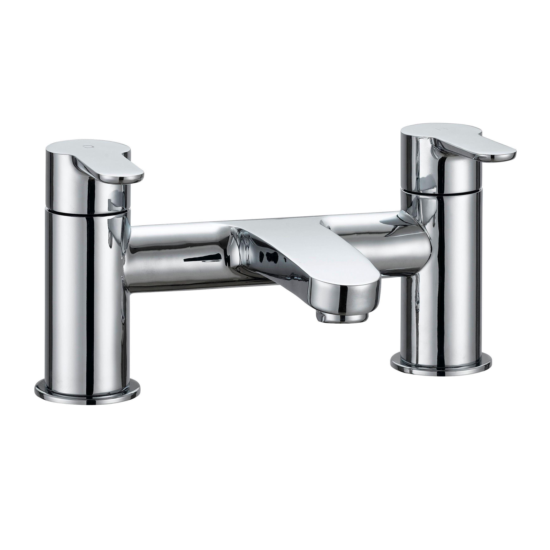 cooke lewis calista chrome finish bath mixer tap. Black Bedroom Furniture Sets. Home Design Ideas
