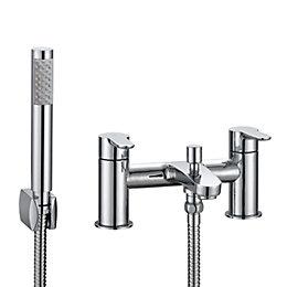 Cooke & Lewis Calista Chrome Bath Shower Mixer