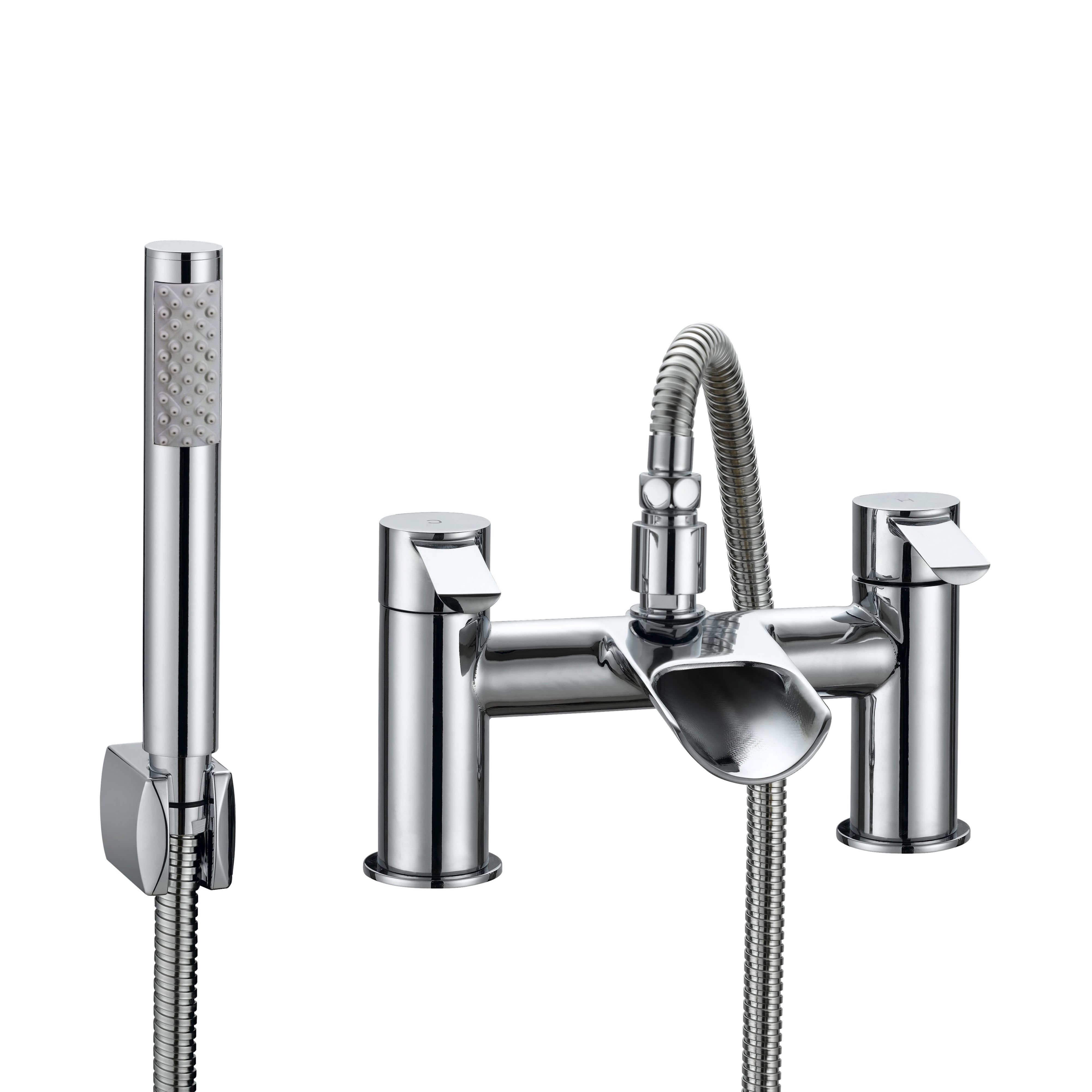 Cooke Amp Lewis Bamboo Chrome Bath Shower Mixer Tap