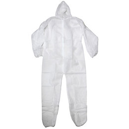 Diall White Disposable Coverall Large