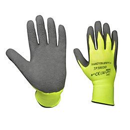Diall Hi-Vis Gripper Gloves, Size 8, Pair