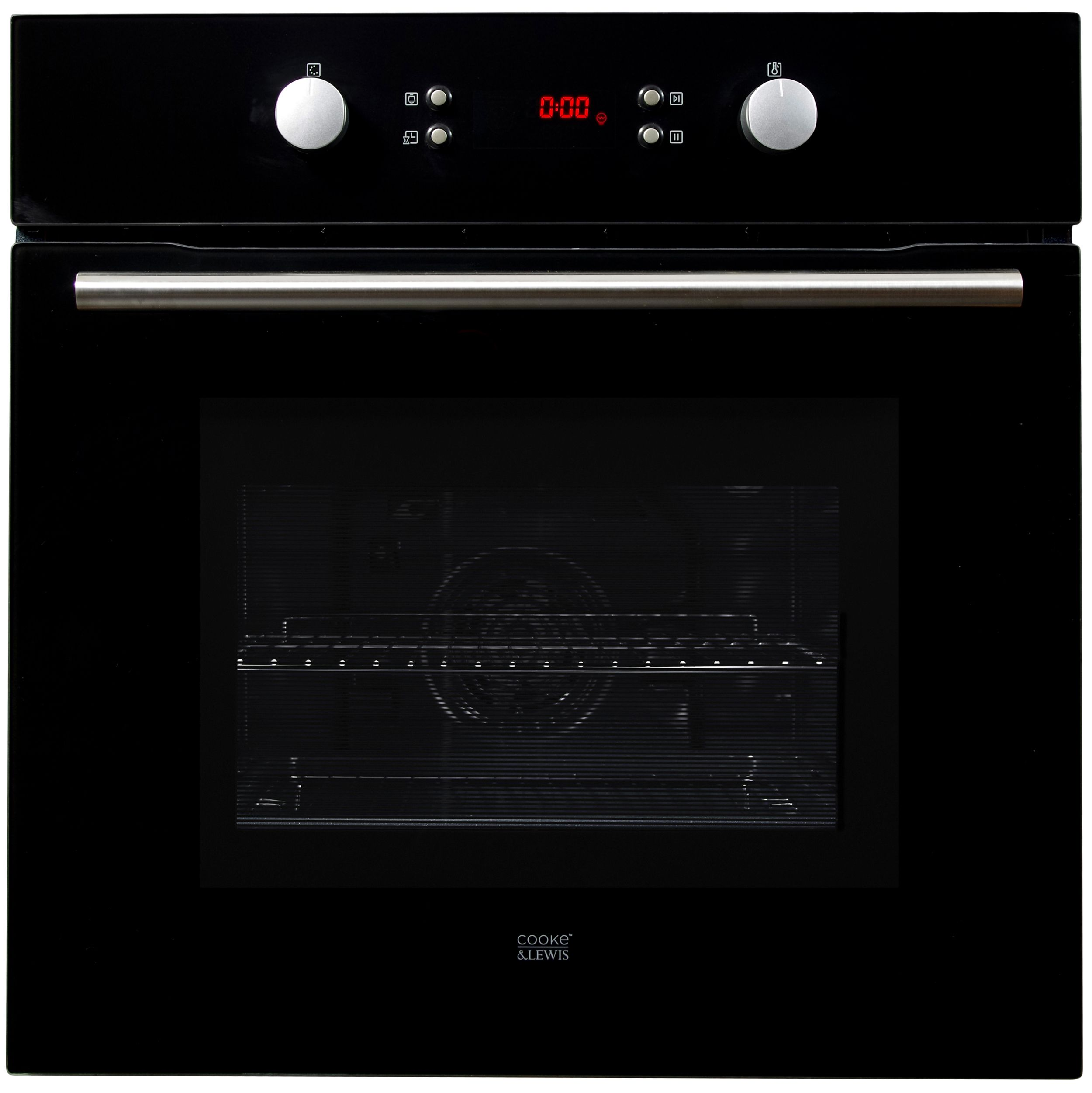 Cooke Lewis Clpyro23 Black Integrated Electric Single Multifunction Oven Departments Diy At B Q