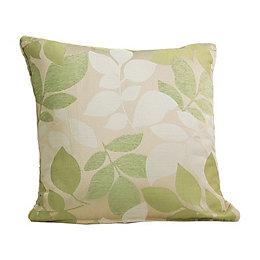 Araxa Leaves Jacquard Citrus Green Cushion