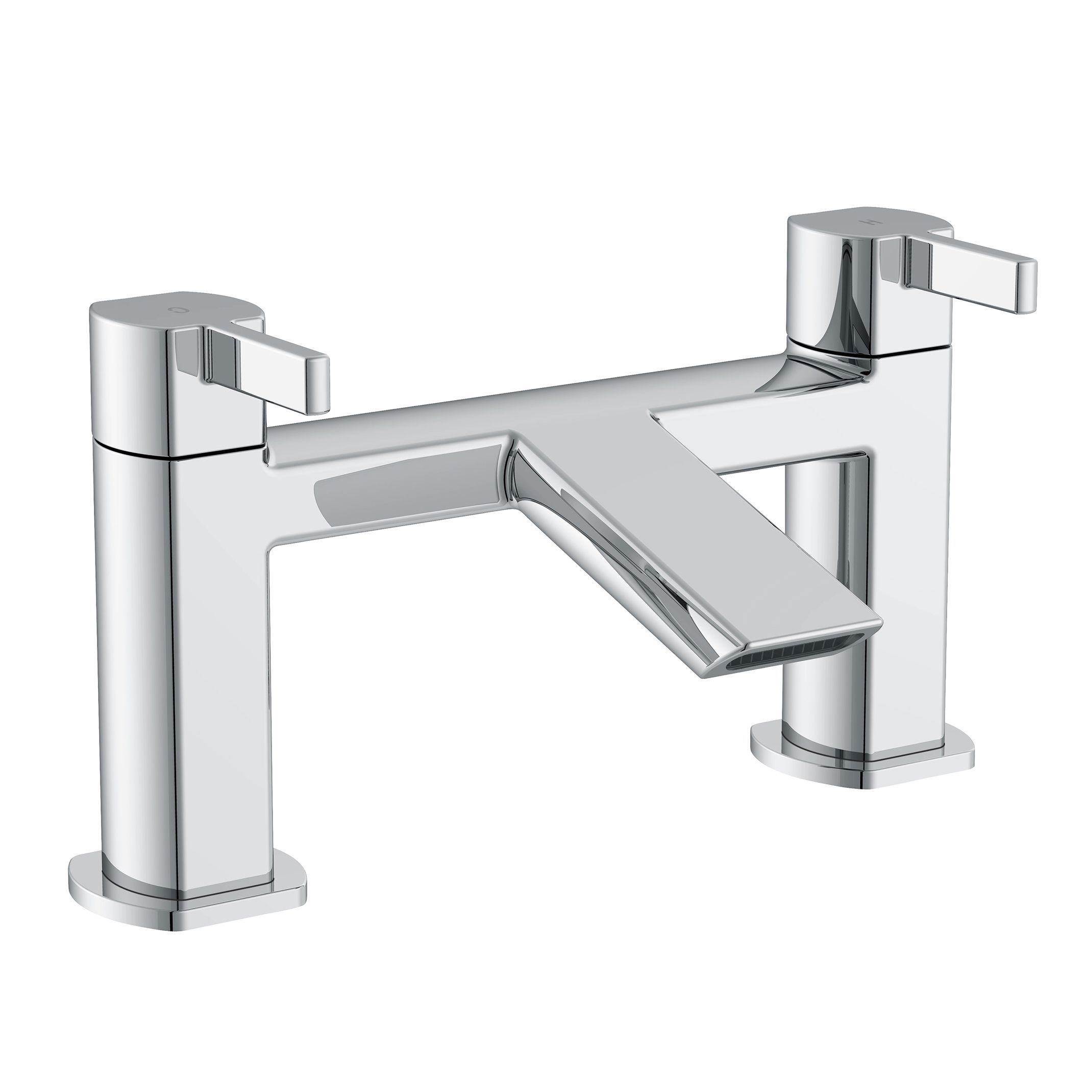 Cooke & Lewis Airlie Chrome finish Bath mixer tap ...