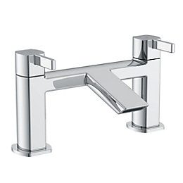 Cooke & Lewis Airlie Chrome finish Bath mixer