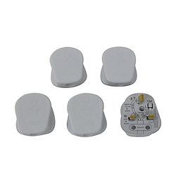 B&Q 13A Plug, Pack of 5