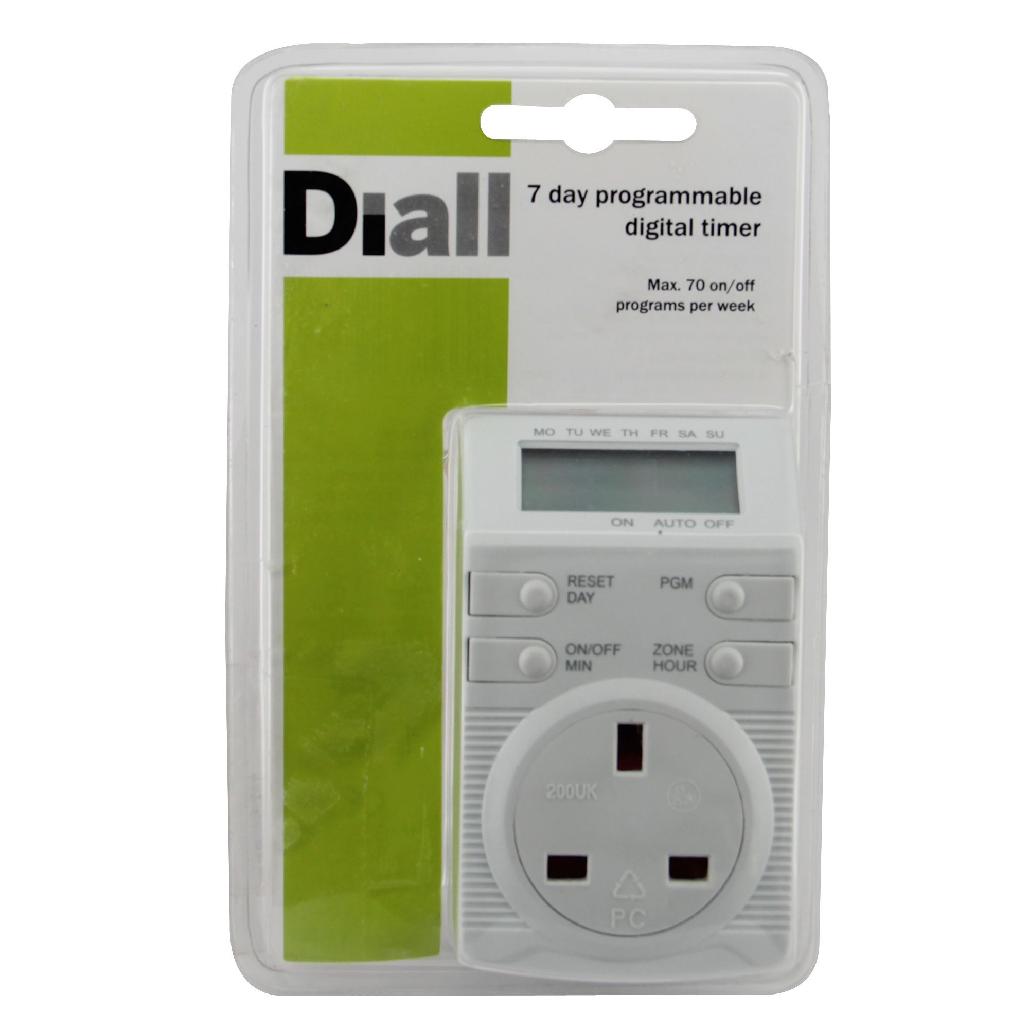 Diall 7 Day Electronic Timer Departments Diy At Bq On Off