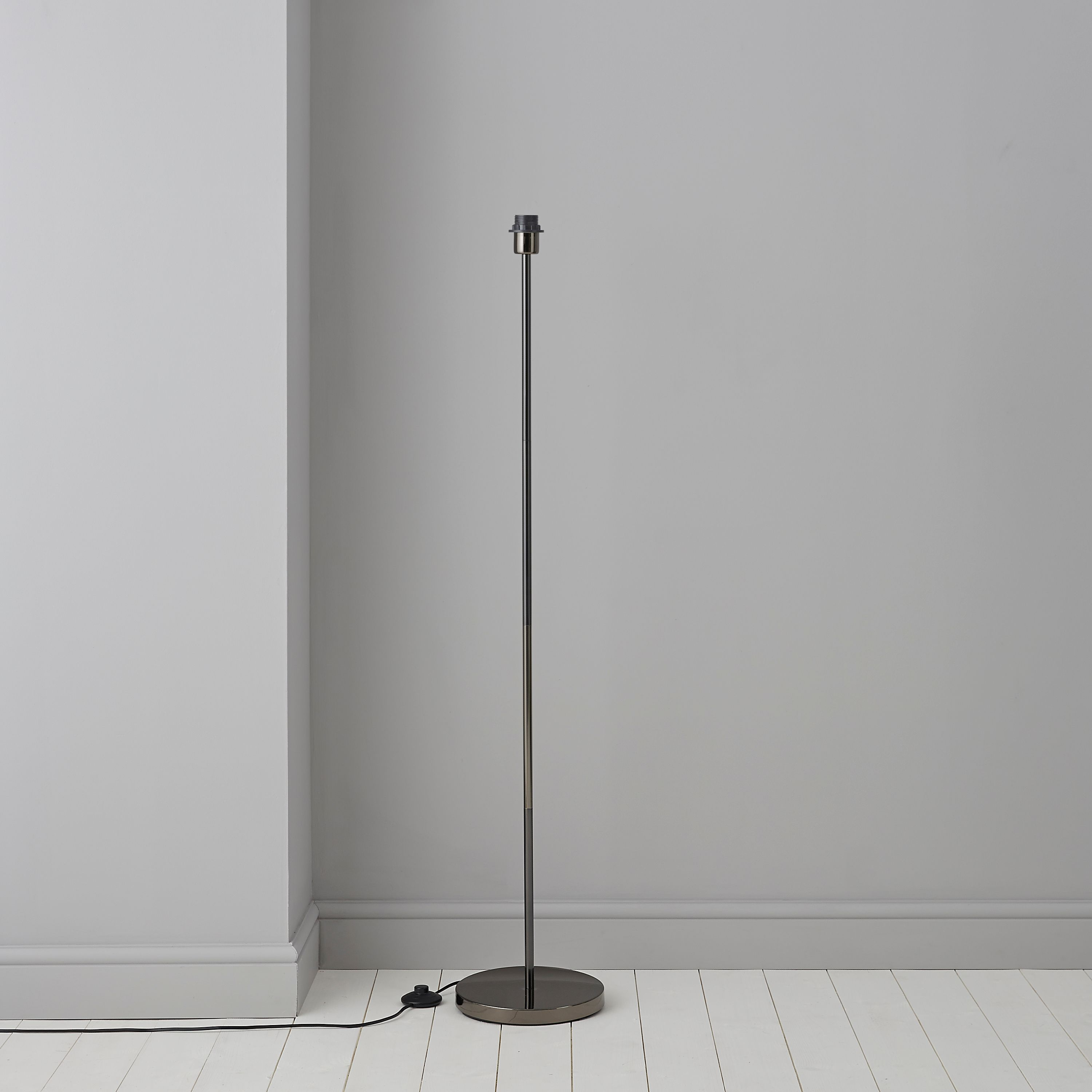 Glennon chrome effect floor lamp base departments diy at bq mozeypictures Image collections
