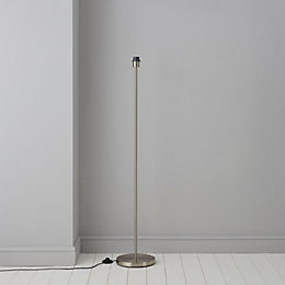 Glennon Brushed chrome effect Floor lamp base
