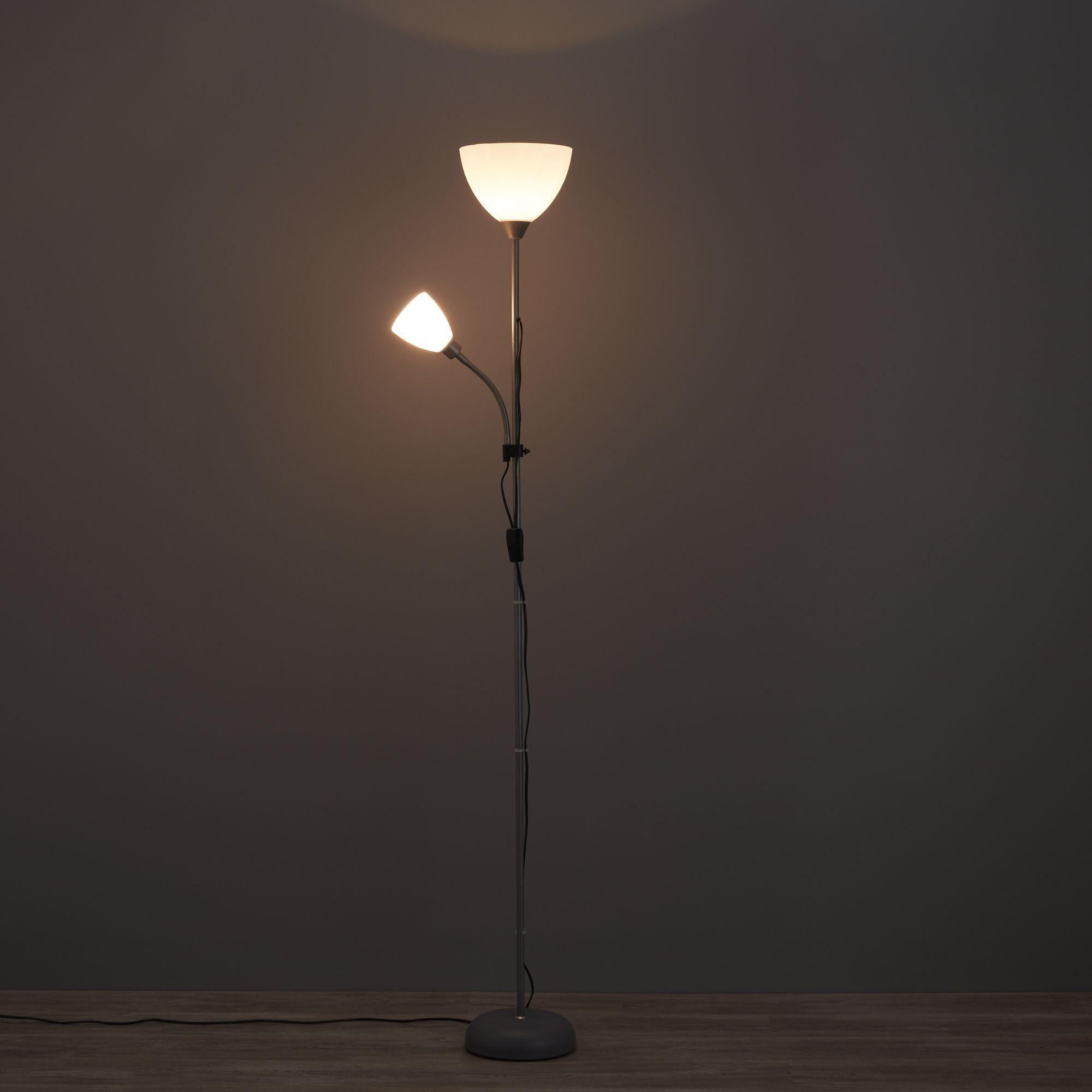 Value White Floor Lamp Departments Diy At B Amp Q