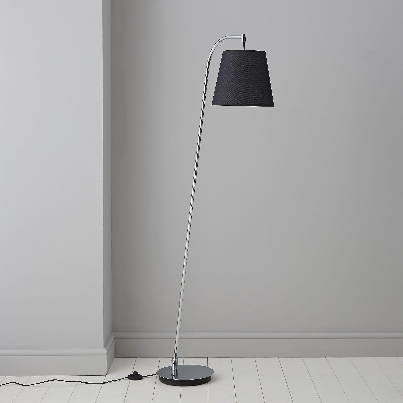 Kartler black chrome effect floor lamp departments diy at bq aloadofball Choice Image