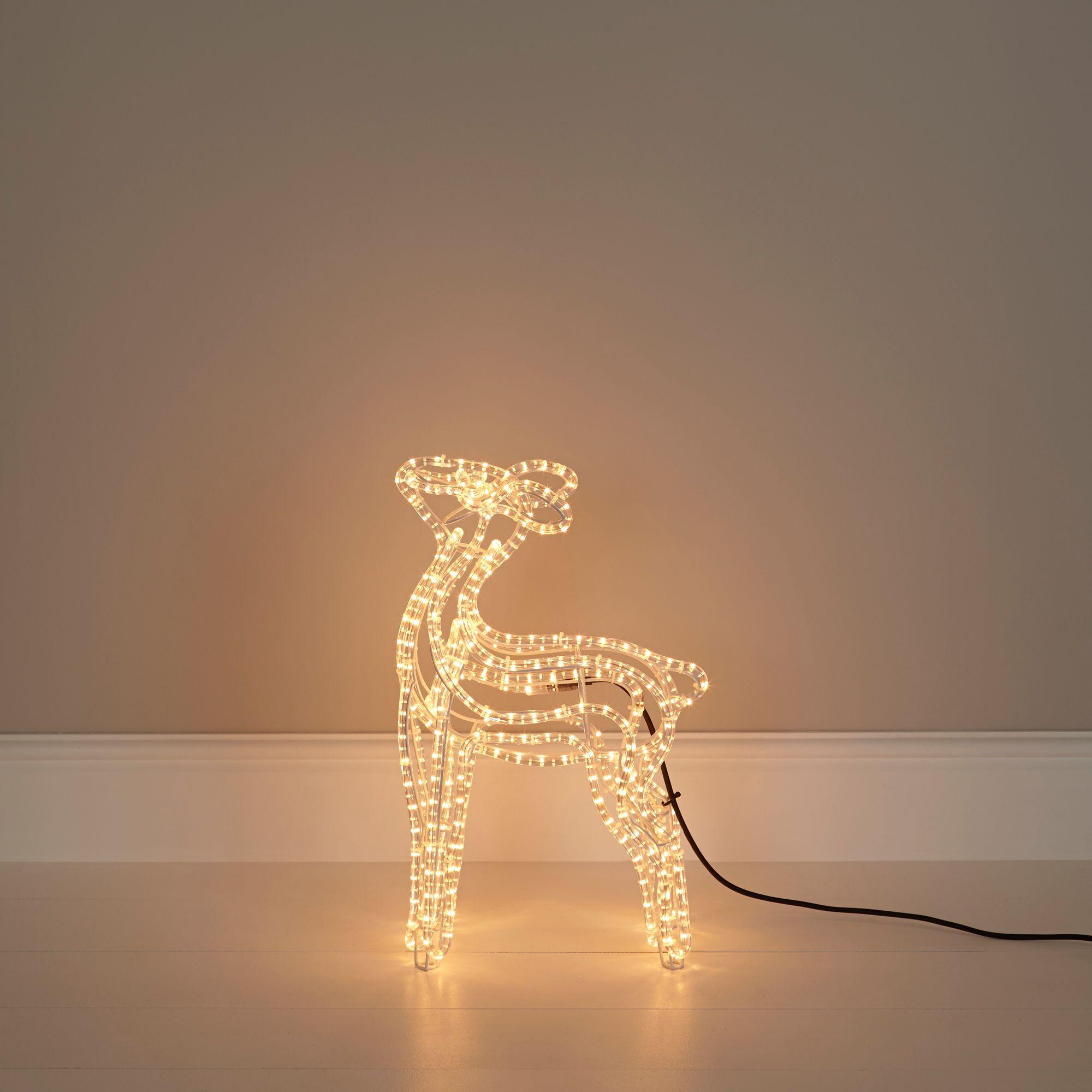 B&q Outdoor Xmas Lights Filament bulb baby reindeer silhouette departments diy at bq workwithnaturefo