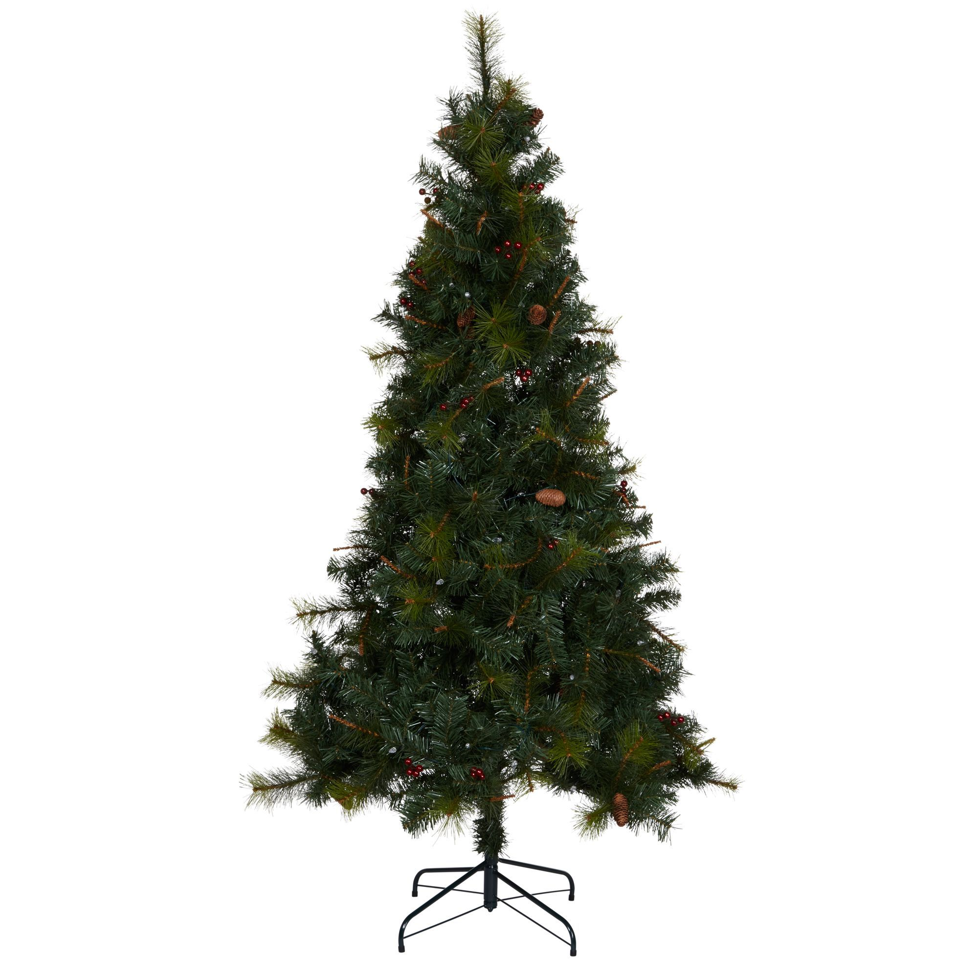 6ft 6In Columbia Pre-Lit Christmas Tree   Departments   DIY at B&Q