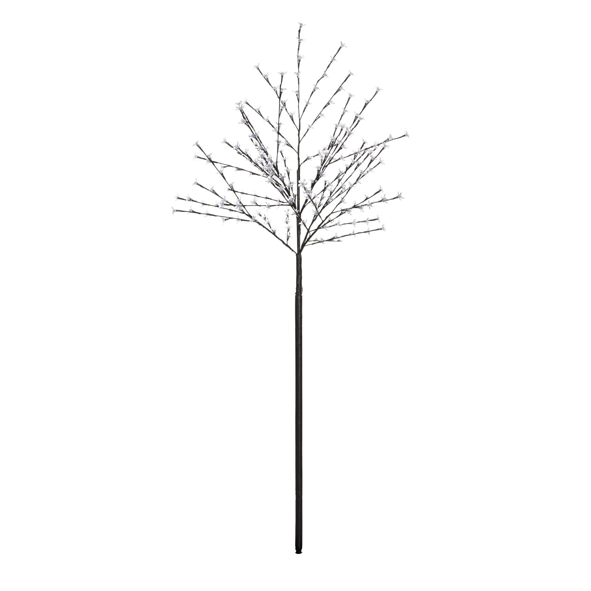 6 Ft Blossom Black Pre Lit Christmas Tree Departments Diy At B Q
