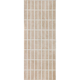 Evona Taupe Mosaic Ceramic Wall tile, Pack of