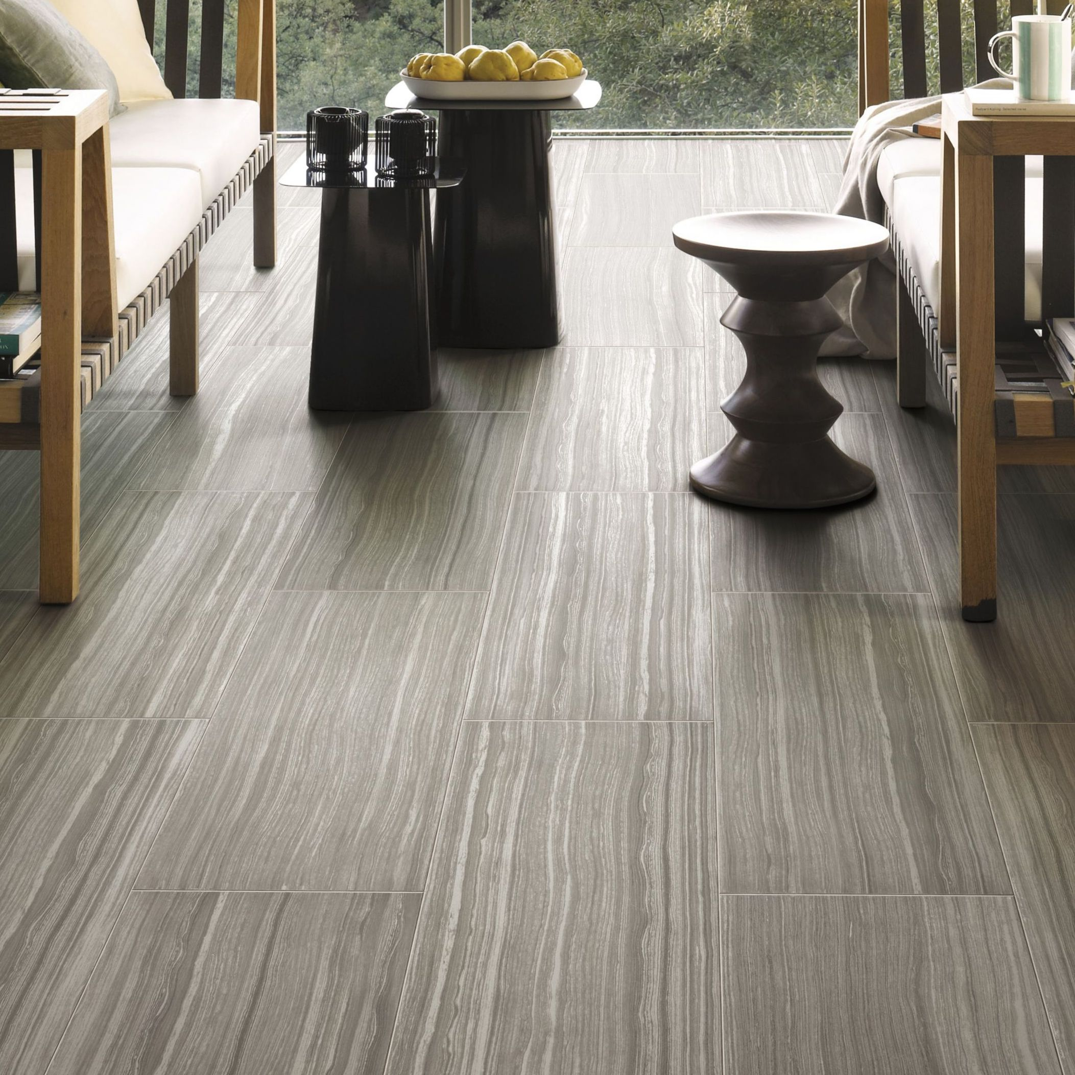 Bolina Grey Wood effect Porcelain Wall & floor