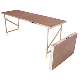 B&Q Foldable Paste Table (H)740mm (W)560mm (L)1780mm